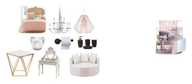 """Home"" by jonaz-danail-grentzelius on Polyvore featuring interior, interiors, interior design, home, home decor, interior decorating, Nuevo, Albertine, Crystal Art and Flea Market Rx"