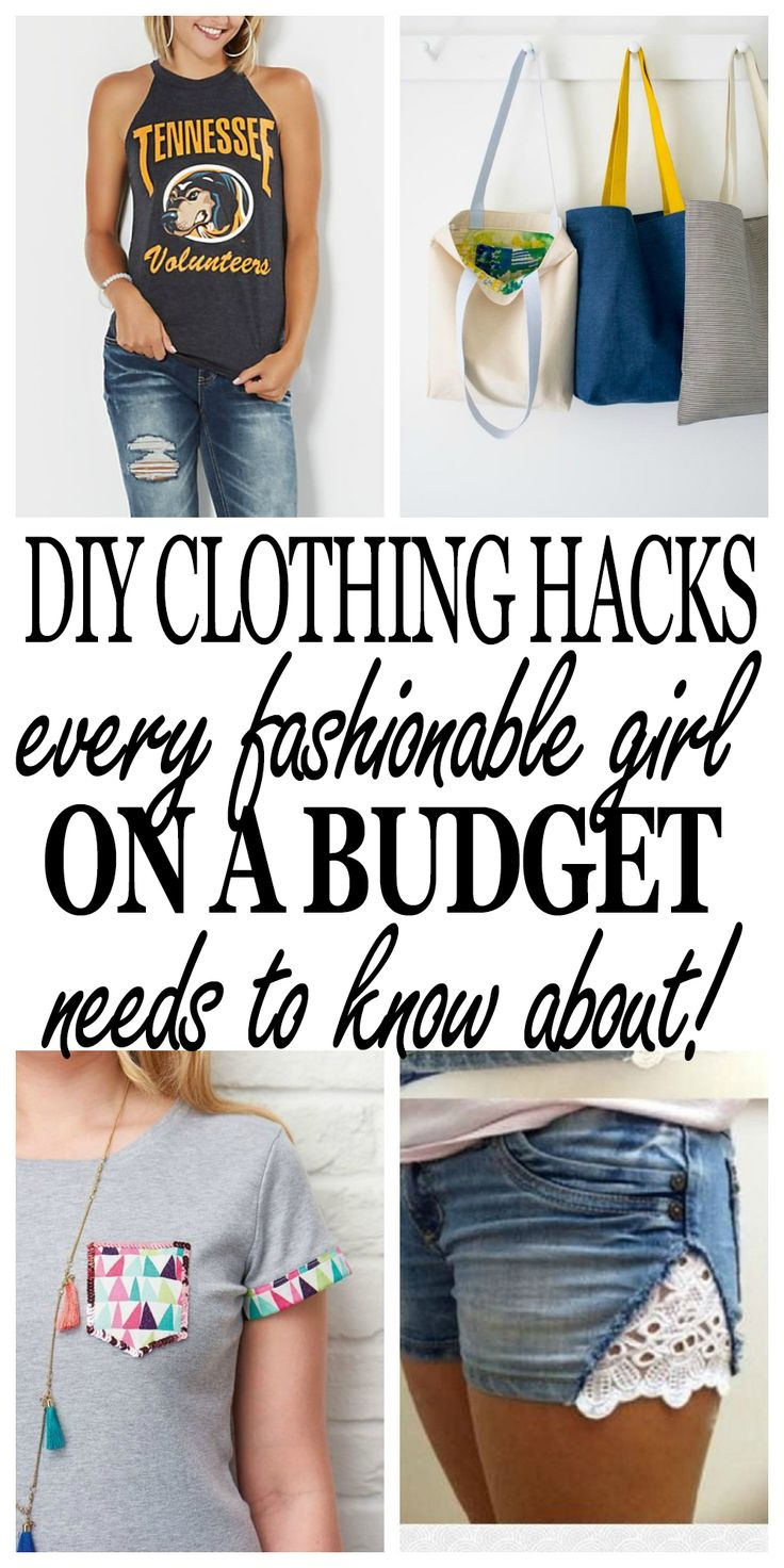 The BEST clothing hacks to keep you looking stylish but save money! Click through to