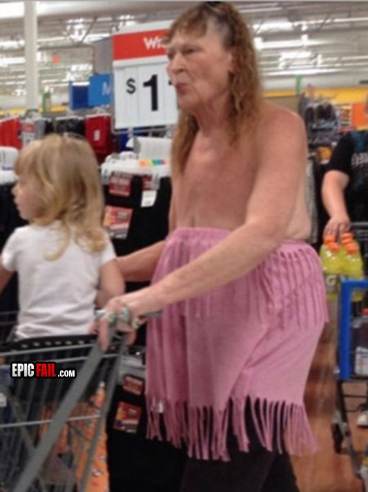 Meanwhile at Walmart...  everyone needs someone to make them feel like Miss America