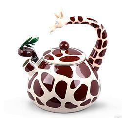 Enamel Giraffe Kettle - Super adorable!!