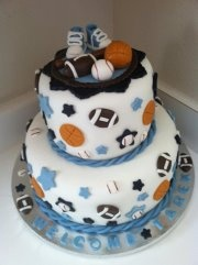 Sports Theme Baby Shower Cake By Simply Sisters Cake Creations