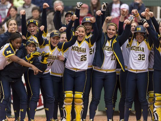 University of Michigan Softball Team ranked NUMBER 1 IN THE NATION IN USA TODAY COACHES POLL - APRIL 2016