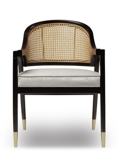 wormley dining chair natural wood or black lacquer and rattan rh pinterest com