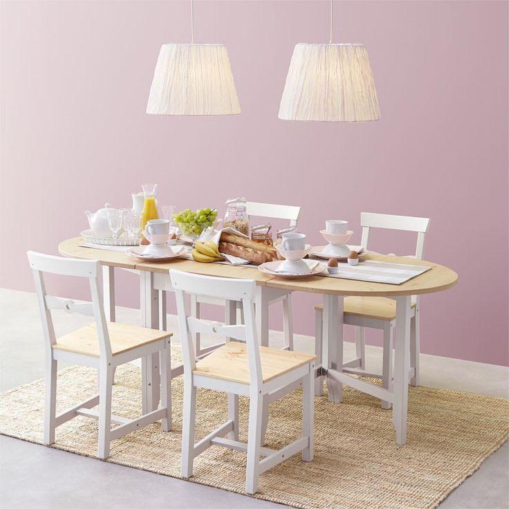 #GAMLEBY / #ガムレビー ゲートレッグテーブルは天然素材のパイン無垢材を使用しているので使い込むほどに風合いが増します。テーブル下には便利な引き出しがついていて、カトラリーやナプキン、プレースマットなども収納できます。 #イケア #IKEA #ikeajapan #IKEAカタログ2016 #出かけるより楽しいかも