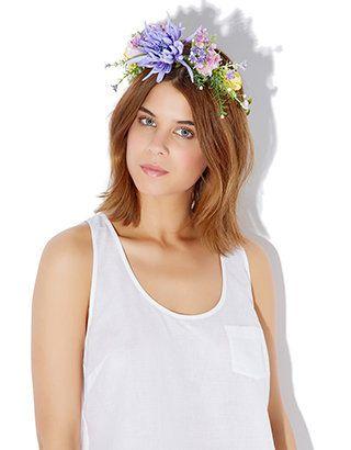 Louisa Flower Crown Bando   Multi   Accessorize