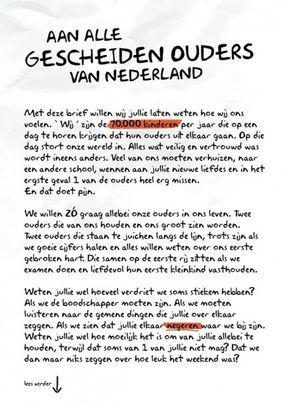 Aan alle gescheiden ouders van Nederland - Nieuwe Stap - Je kind - alles over scheiden en gescheiden zijn