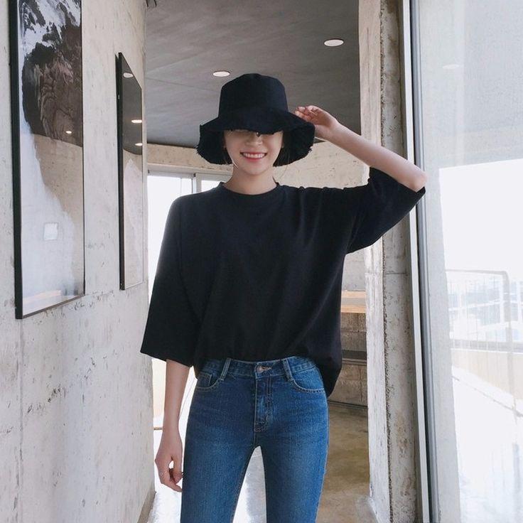 ♡クルーネックワイドスリーブBOXY5分袖Tシャツ♡ #レディースファッション #ファッション通販 #ファッショントレンド #新作 #最新 #モテ服 #韓国ファッション #韓国レディース通販 #ootd #wiw  #fashionaddict #womensfashion #fashion  https://goo.gl/pwmRhh