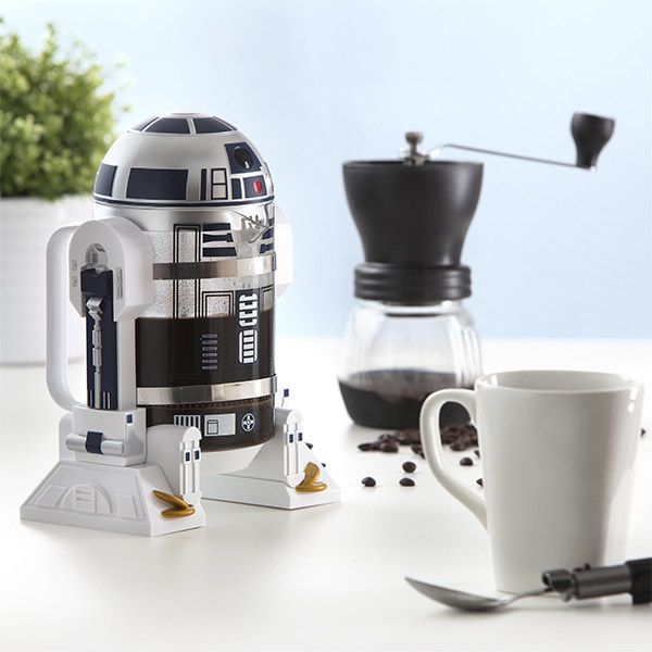 This R2-D2 coffee press that combines two absolutely essential things: Star Wars and coffee, duh.
