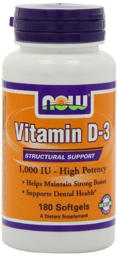 NOW Foods Vitamin D-3 1000 IU, 180 Softgels Now Foods,http://www.amazon.com/dp/B000A0LE6O/ref=cm_sw_r_pi_dp_mKRYsb1D9C8FQM1B