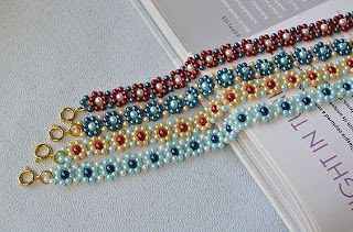 Tina's handicraft : step by step photo tutorial for bead bracelet