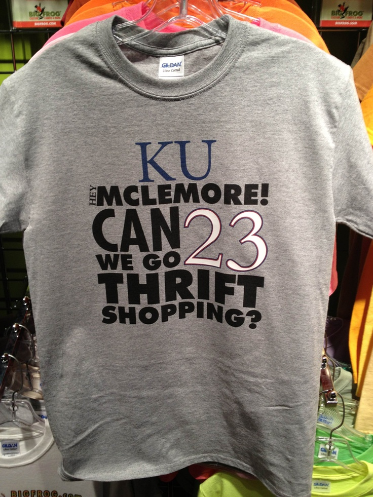 Ku basketball hybrid shirt 23 ben mclemore for Funny kansas jayhawks t shirts
