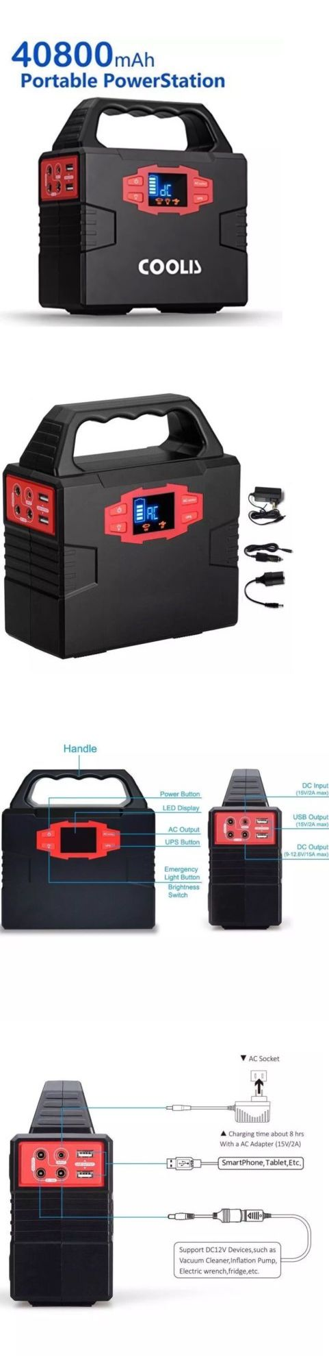 Power Inverters: Coolis 150Wh Portable Solar Power Inverter Generator, 40800Mah Lithium New -> BUY IT NOW ONLY: $169.99 on eBay!