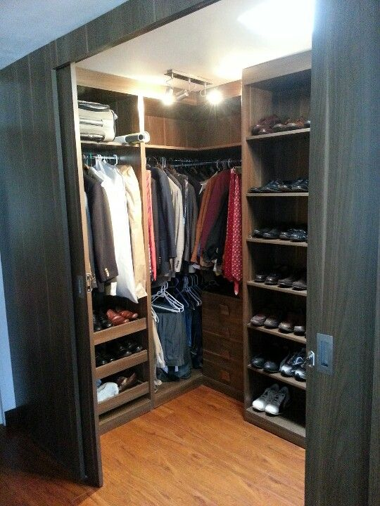 Dark Brown Modern Men 39 S Closet Closet His Pinterest