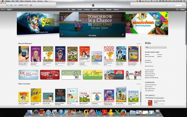 What a thrill for Hilary Grist to see her wonderful new bedtime story and dream songs book on the Apple iBookstore banner! We know we're biased but you really have to hear how delightful this story and its accompanying songs are to understand why we're so excited about its release. Have you had a chance to watch Hilary's narration video yet? #TomorrowBook  https://www.youtube.com/watch?v=K2mOCMPp3G4