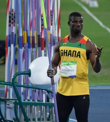 In Brazil, once again Ghana unsuccessful to progress in the current Rio Olympics as Javelin thrower John Ampomah couldn't qualify to the finals.  At this year's event, the captain of team Ghana and the National record holder unsuccessful to hit the qualification spot of 83m after throwing 80.39m to end 19th.