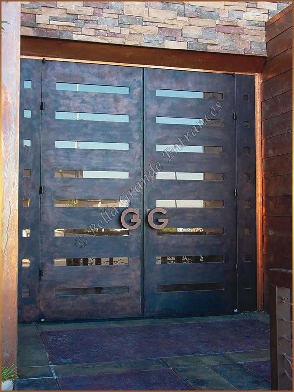 Contemporary Entry Doors | Contemporary Door - Custom Wrought Iron Doors and Gates, Bella Grande ...