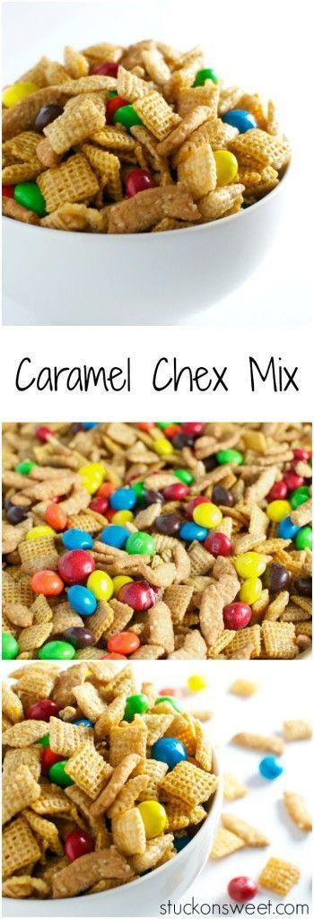 Caramel Chex Mix | http://stuckonsweet.com