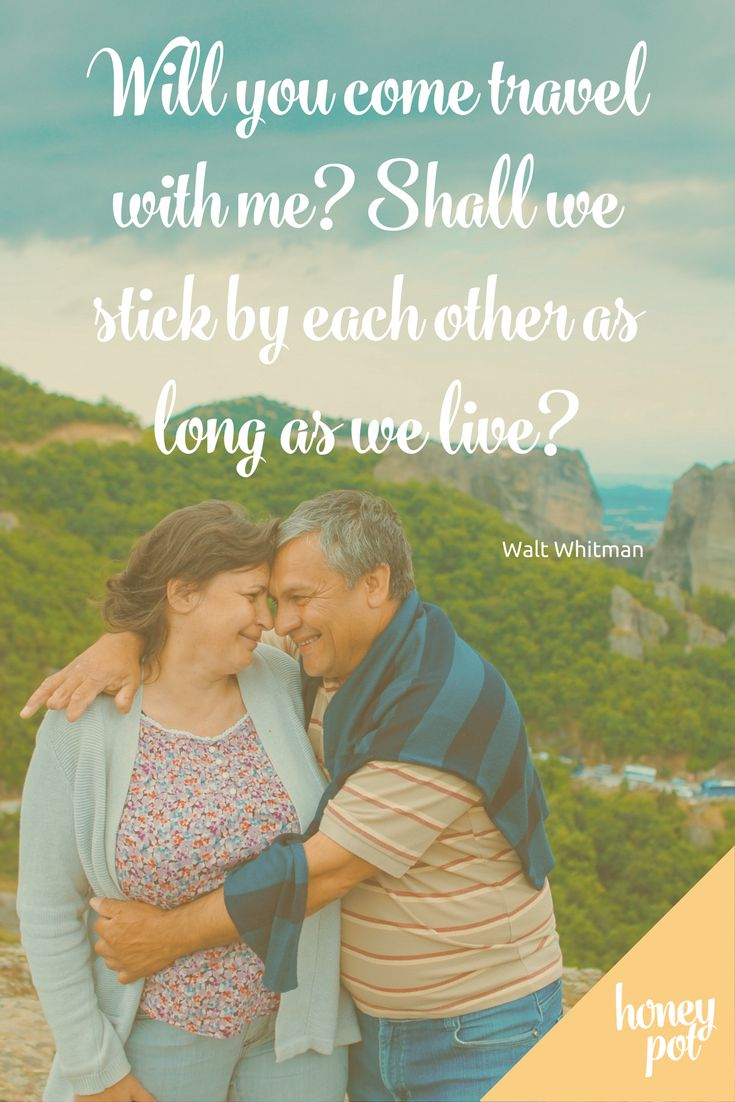 Beautiful - love this quote from Walt Witman about love, staying together, and travelling together. Perfect quote for your honeymoon!  https://honeypotregistry.co.nz/