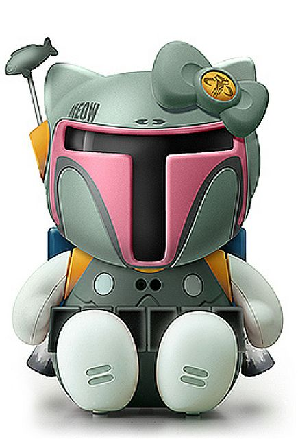 I am loving this Boba Fett Hello Kitty. This guy has done pretty much every character you can think of.