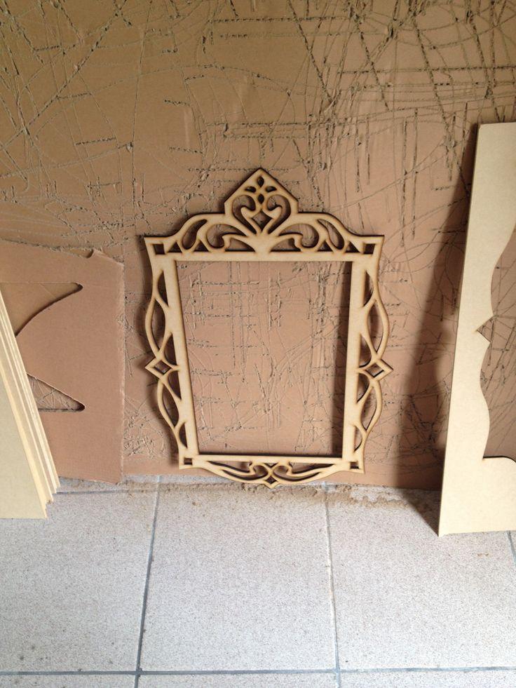 Marco de madera vintage dicotom a pinterest de poca - Decorar marcos de madera ...