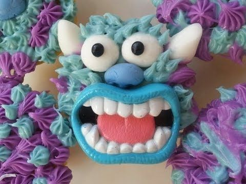 MONSTERS UNIVERSITY SULLY CUPCAKE TUTORIAL