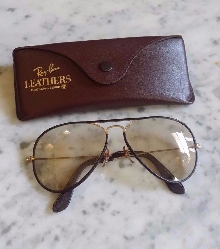Free S&H !  Bausch & Lomb Ray Ban Vintage Leather Sunglasses