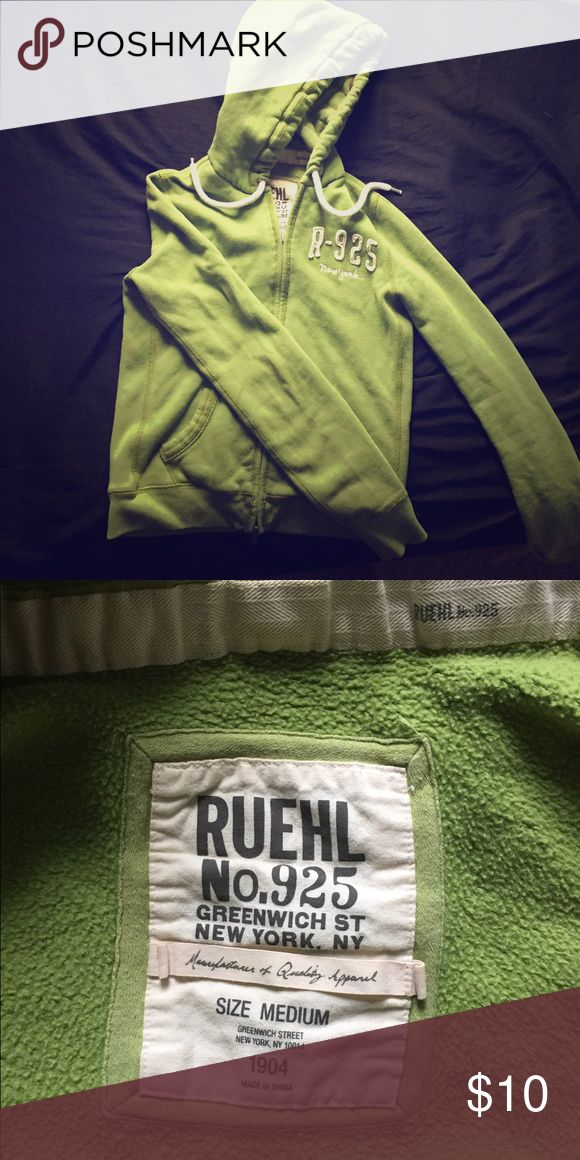 Ruehl green zip up Zip up sweater. Super comfy! Like new only worn a handful of times! Ruehl No. 925 Sweaters
