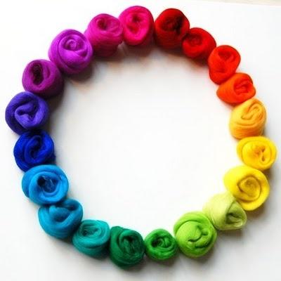 rainbow wool roving: Colour Wheels, Rainbows Colors, Colorful, Colors Wheels, Amazing Colors, Colors Rainbows, Rainbows Feltmak, Crafts Kits, Rainbows Stuff