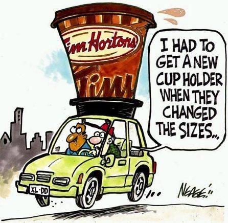 """""""I had to get a new cup holder when they changed the sizes."""" #coffee"""