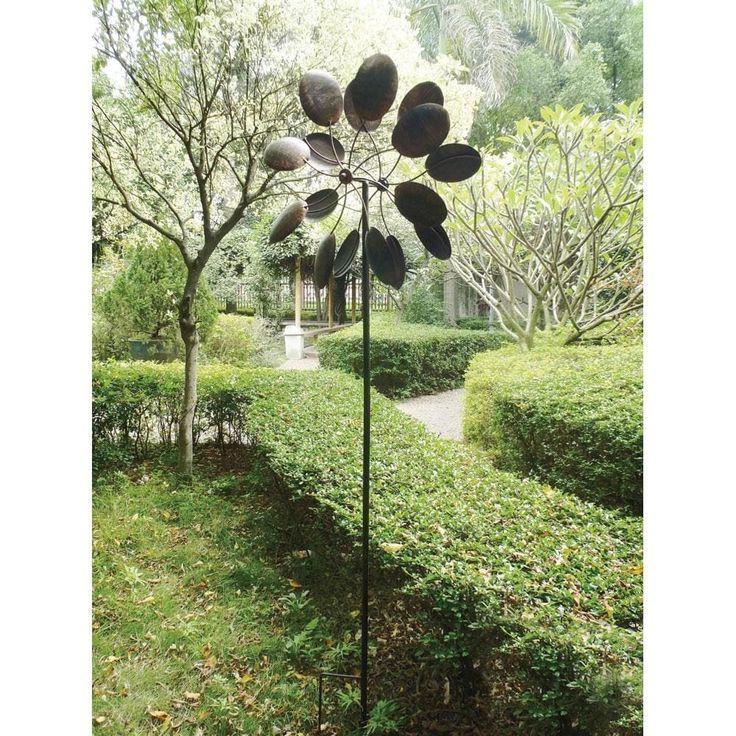 Pinwheel Garden Windmill, Grey metal