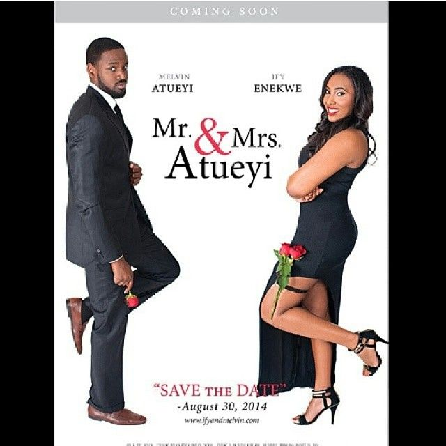 """Mr. And Mrs smith style Nigerian wedding bride and groom movie africanbridal's photo: """"Creative pre - wedding shoot or save the date concept by @omojesus67"""