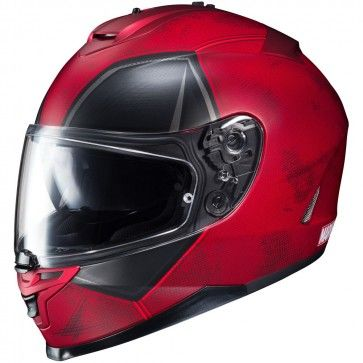HJC IS-17 Marvel Deadpool Mens Street Cruising DOT Motorcycle Helmets