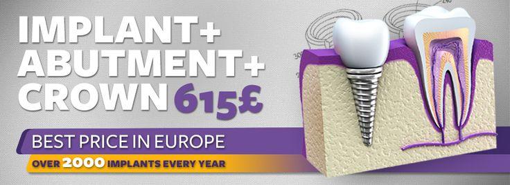 Dental Implant / Dental Crown / Best price in Europe  http://medicaltours.co.uk/ #dentist #dental treatment
