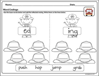 Word Ending Freebie  -  Pinned by @PediaStaff – Please Visit http://ht.ly/63sNt for all our pediatric therapy pins