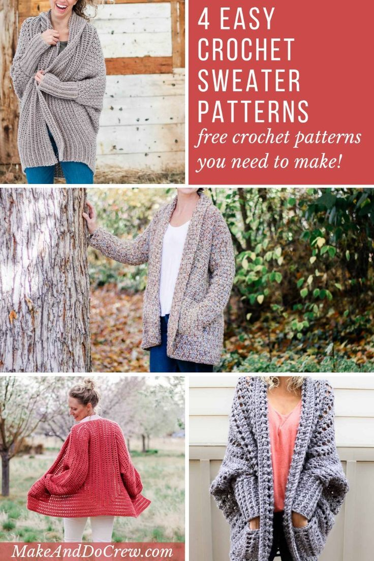 3ff2dd8215253 These free crochet sweater patterns are so simple