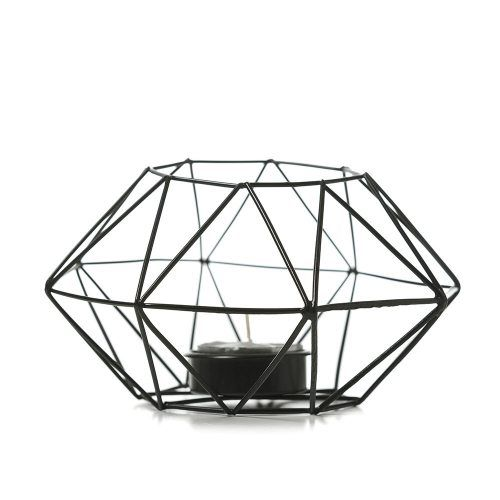 Home Republic Diamond Tea Light Holder in Black from Adairs