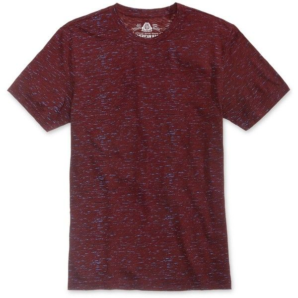 American Rag Men's Textured Big & Tall T-Shirt, (€15) ❤ liked on Polyvore featuring men's fashion, men's clothing, men's shirts, men's t-shirts, dark scarlet, mens t shirts, j crew mens shirts, big tall mens shirts, mens big and tall shirts and mens big and tall t shirts