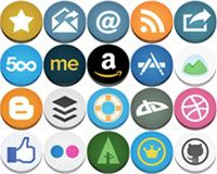 Free download: Flat but not flat rounded social icons | Webdesigner Depot