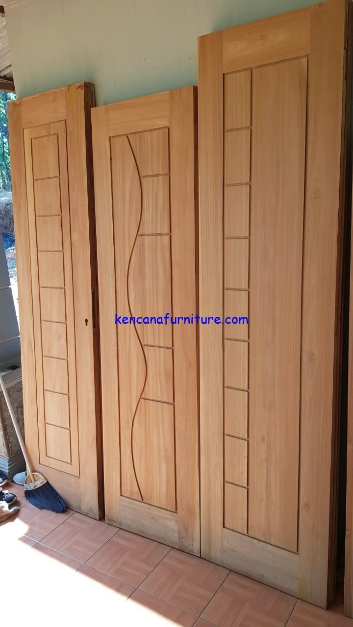 Jepara Teak Minimalist House Door Datingafurniture Com Pintu Rumah Jati Minimalis Jepara In 2020 Single Door Design Wooden Front Door Design Wooden Main Door Design