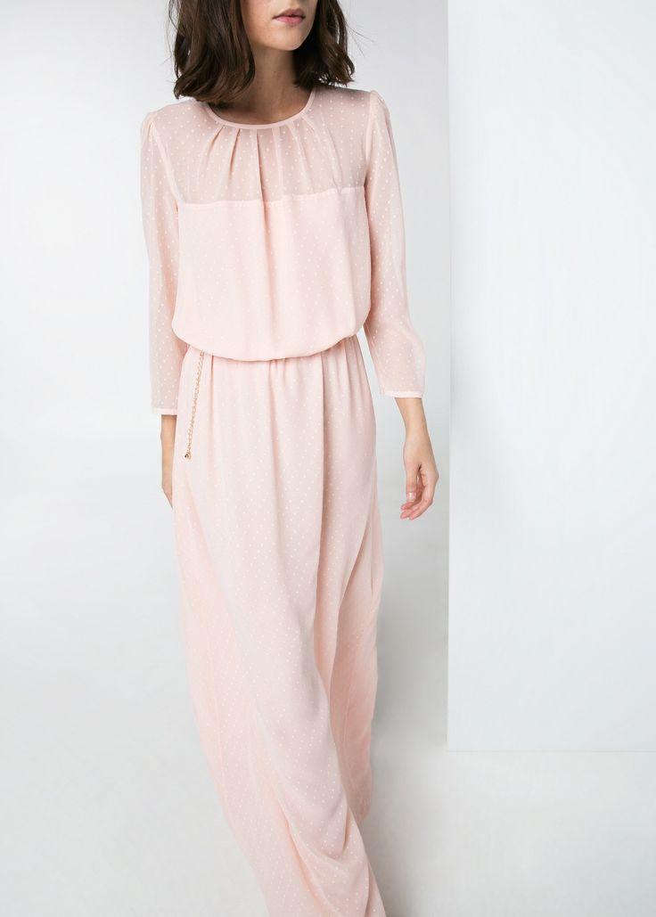Plumeti long dress by Mango