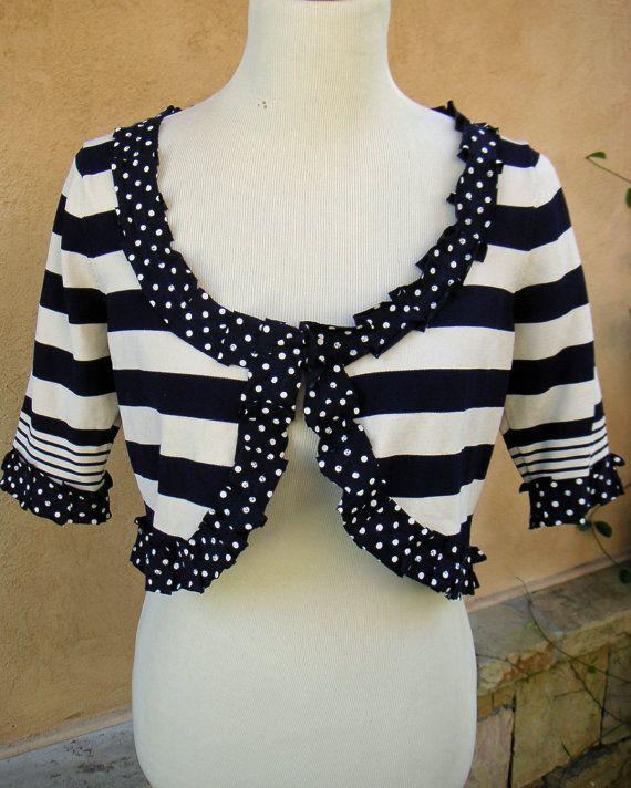 Women's Upcycled Large Bolero Sweater Navy by EchoClothingCompany, $25.00
