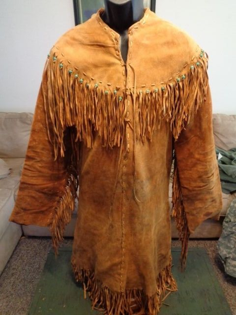 RENDEZVOUS MOUNTAIN MAN NATIVE AMERICAN FRINGED BUCKSKIN TOP PANTS MOCCASINS #Unbranded #RENDEZVOUSNATIVEAMERICAN