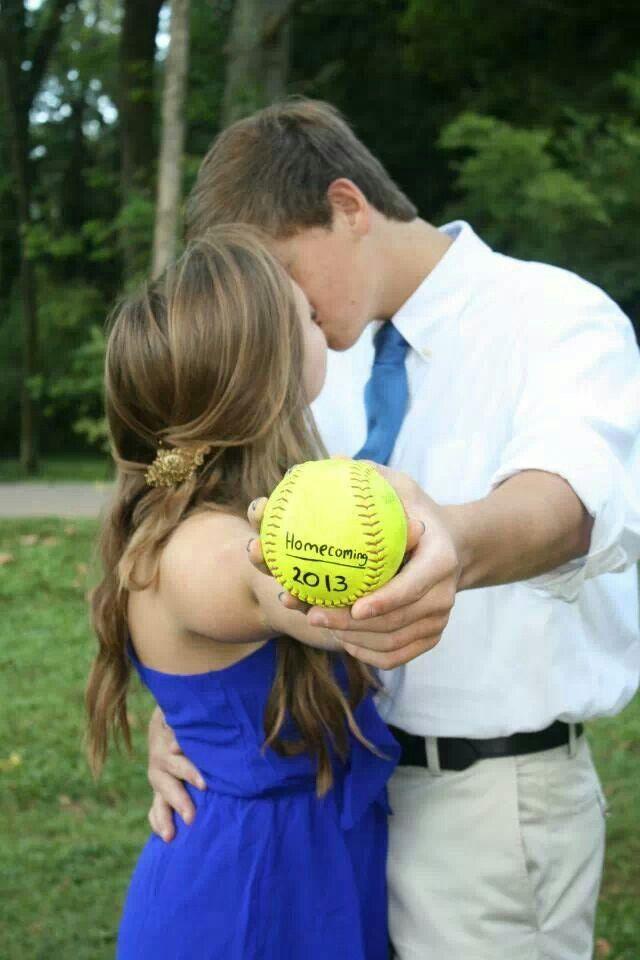 Baseball softball couple♥ homecoming 2014 please?