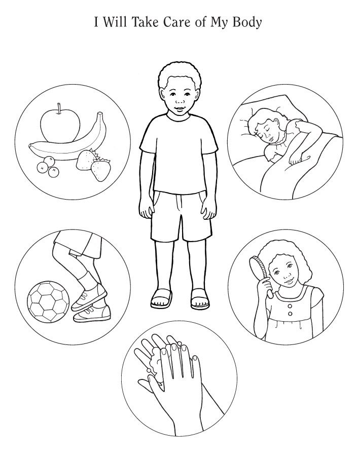 body part coloring pages - photo#20