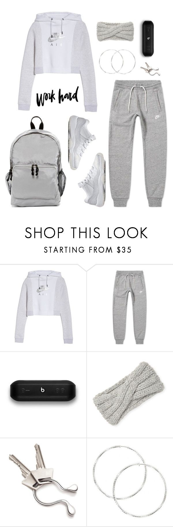 """""""athlete"""" by eniola29 ❤ liked on Polyvore featuring NIKE, Beats by Dr. Dre, Portolano, Georg Jensen and Madden Girl"""