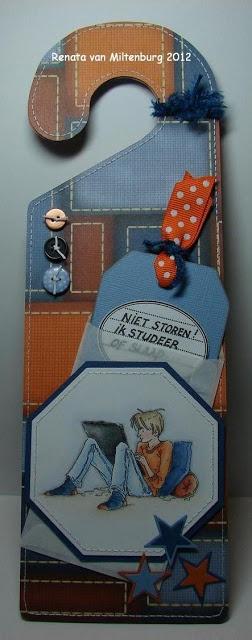 """Kaarten / Cards Renata van Miltenburg: """"Niet storen!"""" / """"Don't disturb"""". Stamp: Mo's Digital Pencil"""