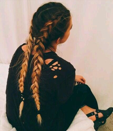 Two french braids ..