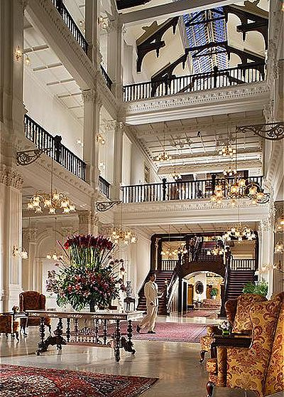 Raffles, Singapore. This is a very historical hotel . It has incredible afternoon teas.