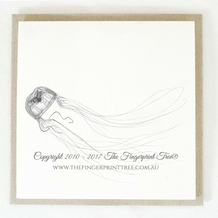 Gift card - Jellyfish:  Cards! by The Fingerprint Tree® is our couture range of gift cards featuring illustrations by Ray Carter, Chief Artist & Founder.  Made-to-order and Giclée printed at our Southern Highlands studio.   We sell direct to the public and to retailers.