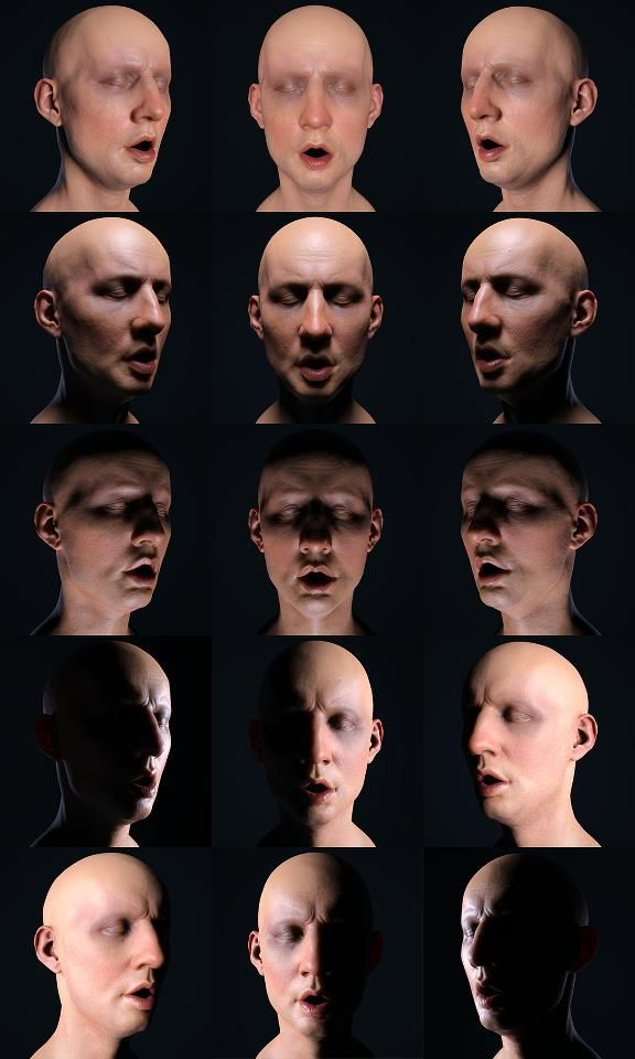 Lighting reference for face - Tony Reynolds ✤ || CHARACTER DESIGN REFERENCES…